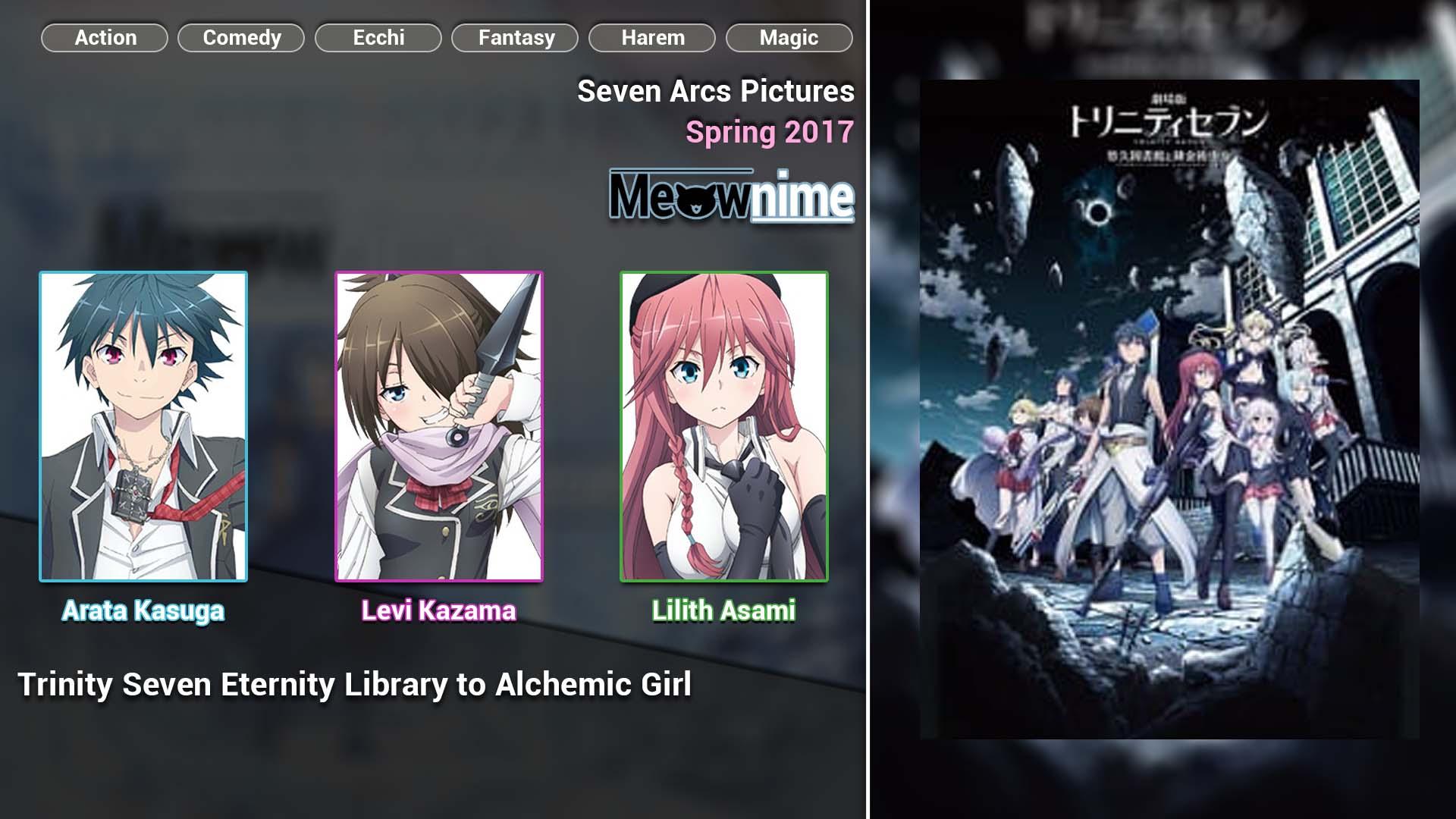 Trinity Seven Eternity Library to Alchemic Girl